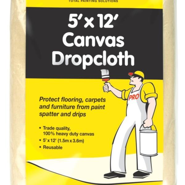 UNi-PRO Heavy Duty Canvas Dropcloth 12′ x 5′ 1