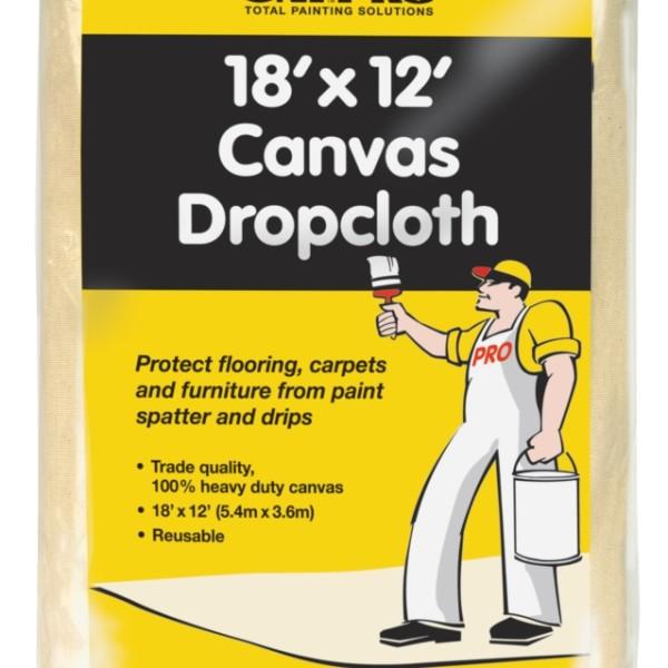 UNi-PRO Heavy Duty Canvas Dropcloth 12′ x 18′ 1