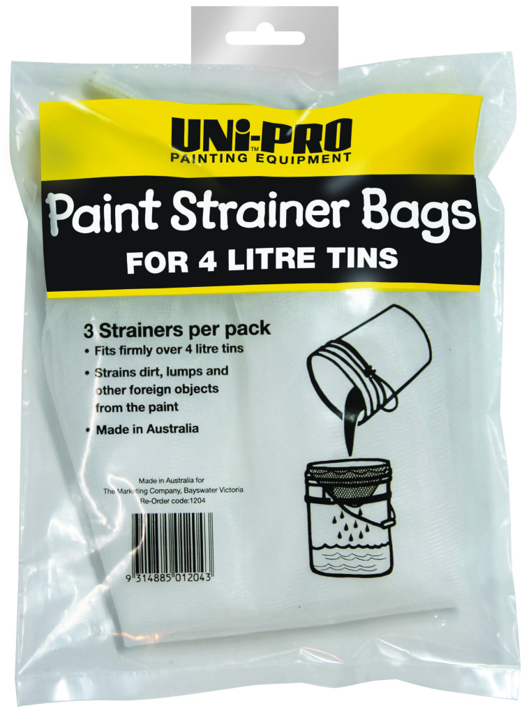 UNi-PRO Paint Strainer Bags for 4 Litre Tins 3 pack 1