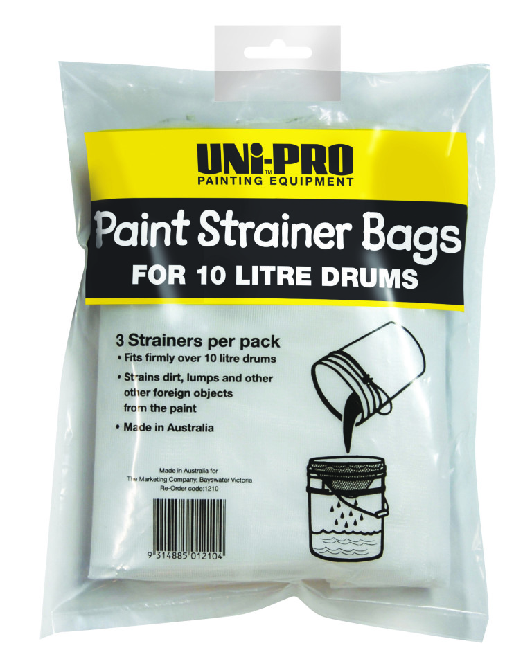 UNi-PRO Paint Strainer Bags for 10/20 Litre Tins 3 pack 1