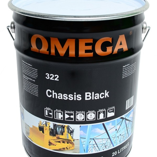 Omega 322 Chassis Black Paint Online