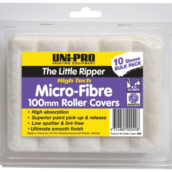 "UNi-PRO ""Little Ripper"" Fabric Covers – 10 Pack 100mm 1"
