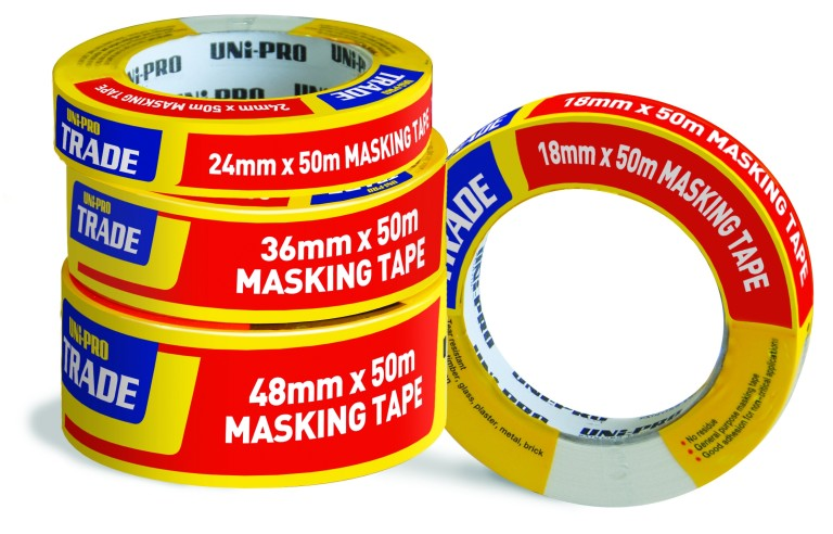 UNi-PRO Trade Masking Tape – White 18mm x 50mt 1