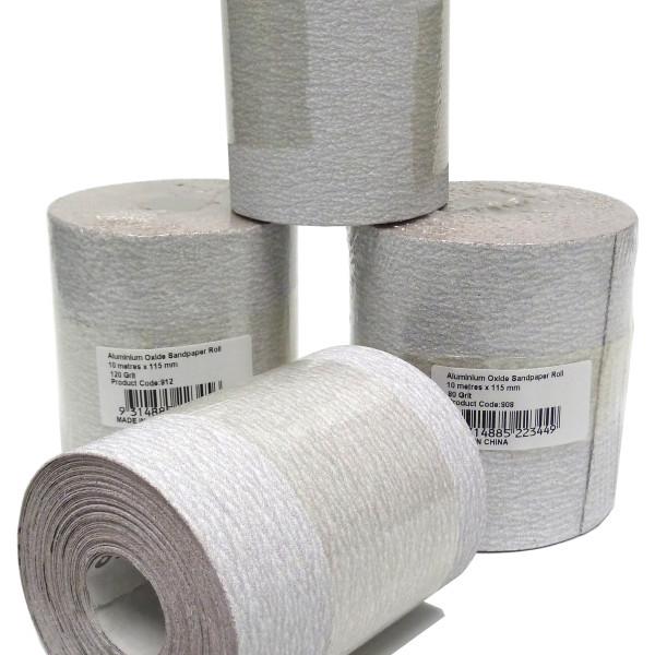 UNi-PRO Aluminium Oxide Roll 115mm x 10mt P220 220 Grit 1