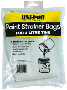 UNi-PRO Paint Strainer Bags for 4 Litre Tins 3 pack