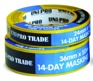 UNi-PRO 14-Day Blue Masking Tape - Extended Life 24mm x 50mt