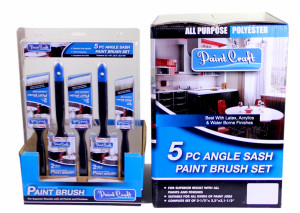 """Paint Craft Brush 5 Piece Synthetic Set (1 x 38, 2 x 50 & 2 x 63mm)"" Mixed"