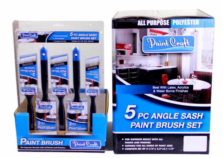 """Paint Craft Brush 5 Piece Synthetic Set (1 x 38, 2 x 50 & 2 x 63mm)"" Mixed 1"