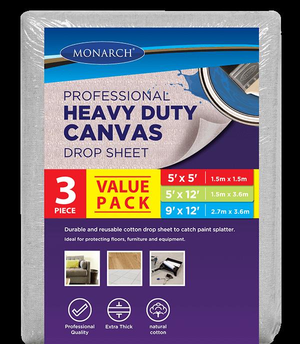 3Pk Monarch Canvas Drop Sheet